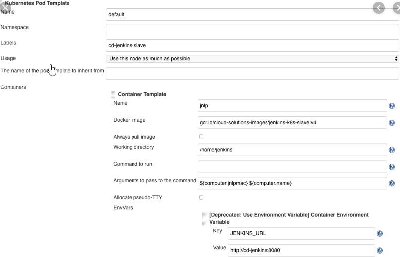 Tương tự Jenkins master cũng được build thành image từ dockerfile và up lên Google Registry. Các plugin của Jenkins cũng không cài đặt bằng tay, mà được định nghĩa trong 1 file txt, khi build image thì các plugin được tải và cài đặt. Cách đóng gói Jenkins master, slave thành docker tạo ra sự cơ động, portable, reusable