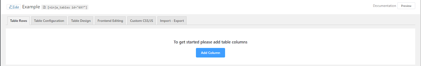 Create online data tables with a table plugin