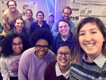 Selfie of Professor Dan Brabander and his students
