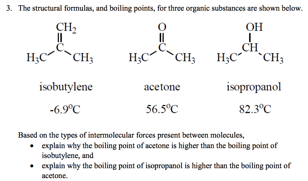 Solved: 3  The Structural Formulas, And Boiling Points, Fo
