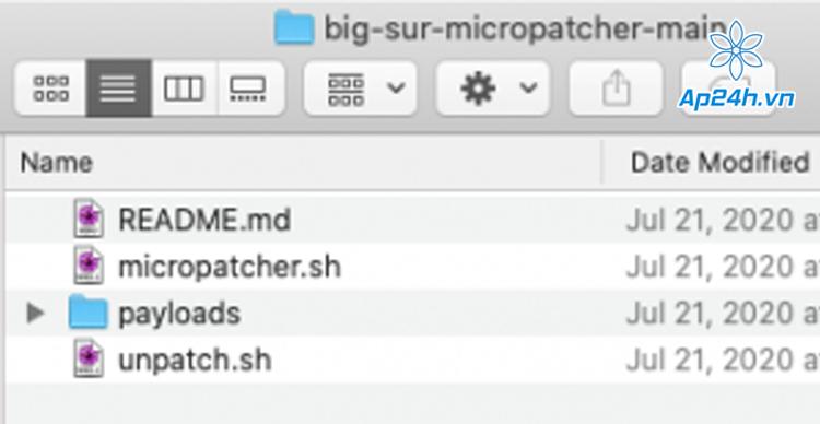 cài macOS Big Sur len Mac