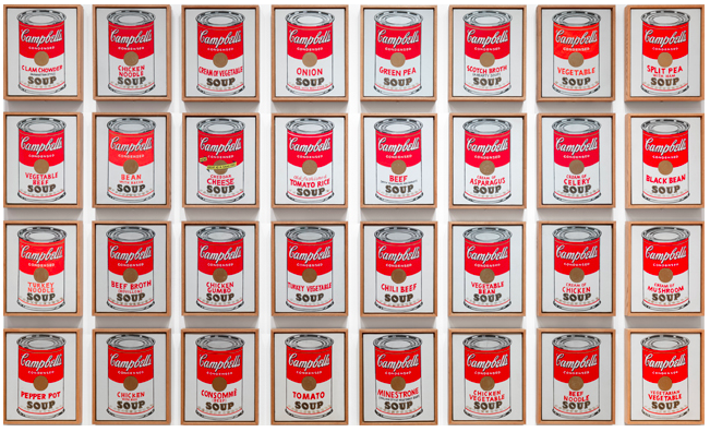 Andy Warhol - Campbell's Soup Cans, 1962