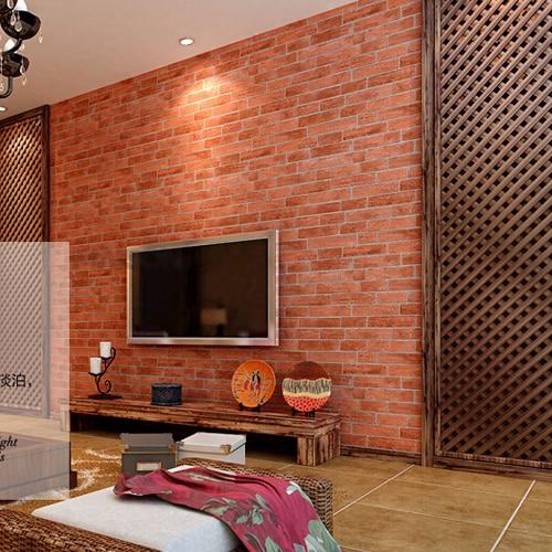 Rumah dengan dinding bata merah wallpaper