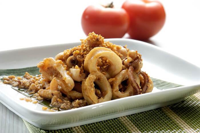 蒜香醬炒透抽圈,好吃簡單又方便,試試看吧!