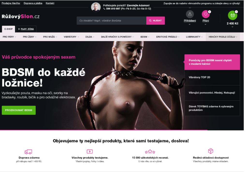Nový e-shop Růžový slon