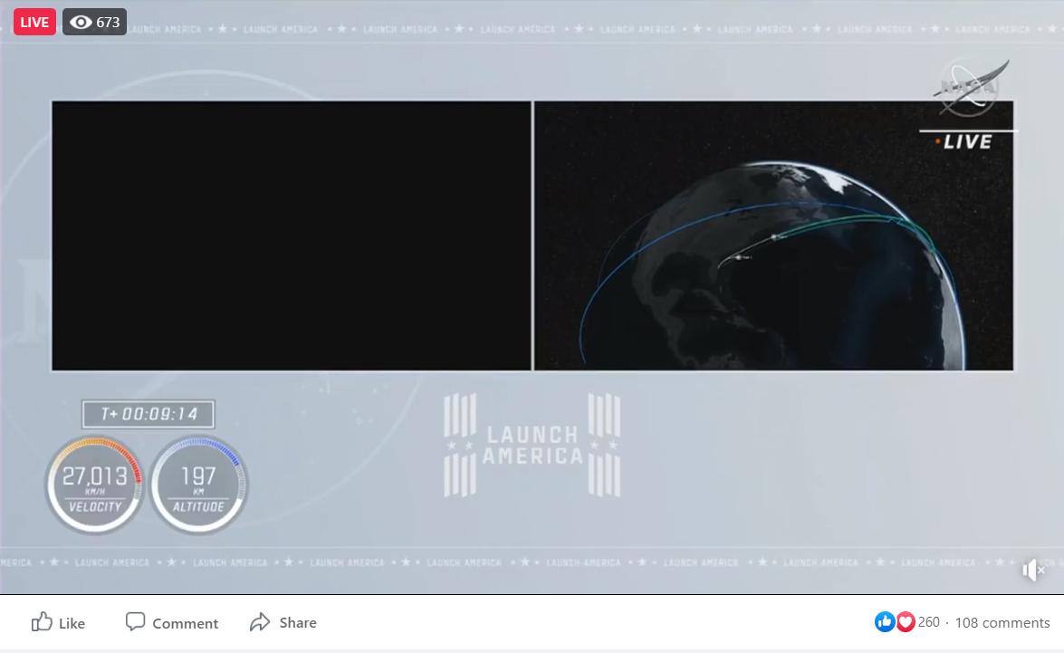 Screenshot of the Facebook Live Virtual Event Platform