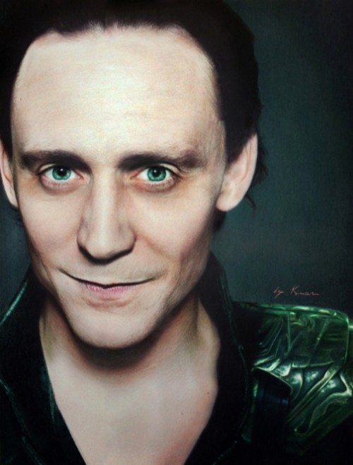 Tom Hiddleston. Pencil drawings by Natasha Kinaru