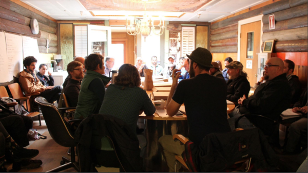 Village Coalition meeting at Rebuilding Center, 2019