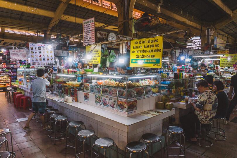 Ben Thanh Market food.