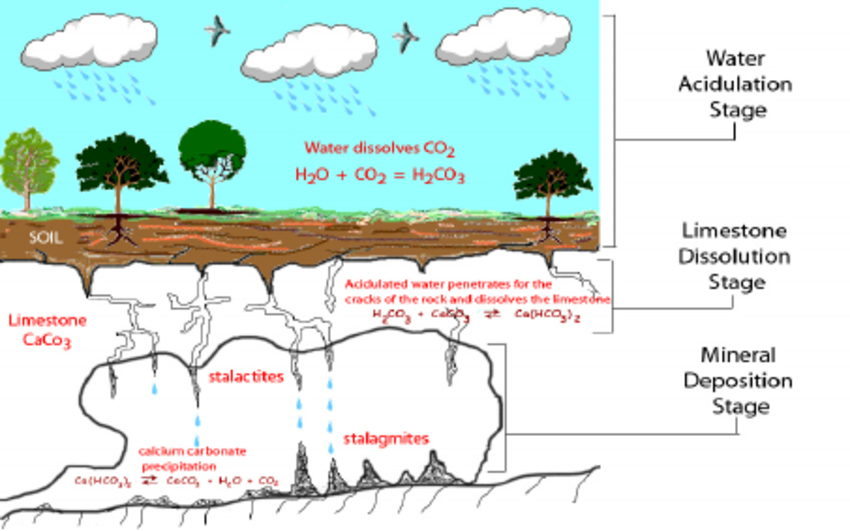 How Stalactites and Stalagmites are created