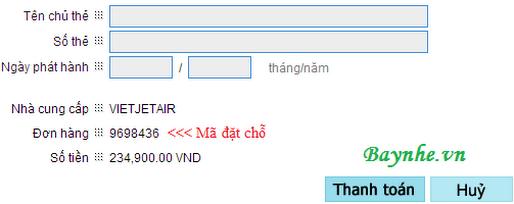 Xử lý các vấn đề gặp phải khi book vé VietJetAir