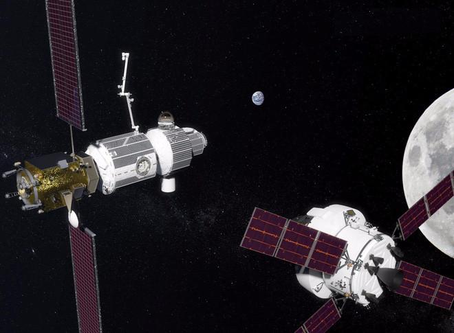 Hình ảnh phác họa trạm vũ trụ Deep Space Gateway.