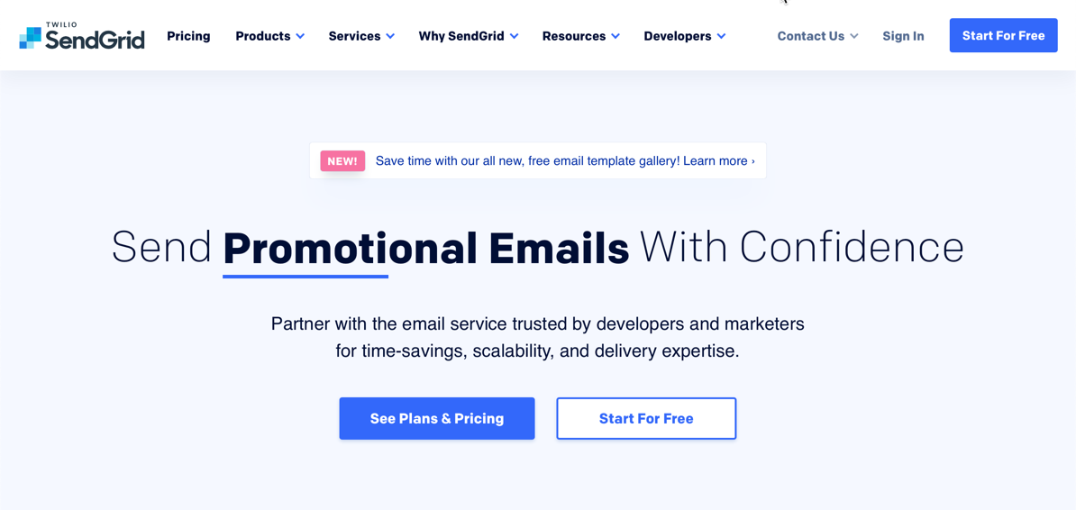 sendgrid email marketing service provider