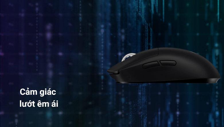Chuột không dây gaming Logitech G Pro X - Super Light (Đen) | Cảm giac lướt êm ái