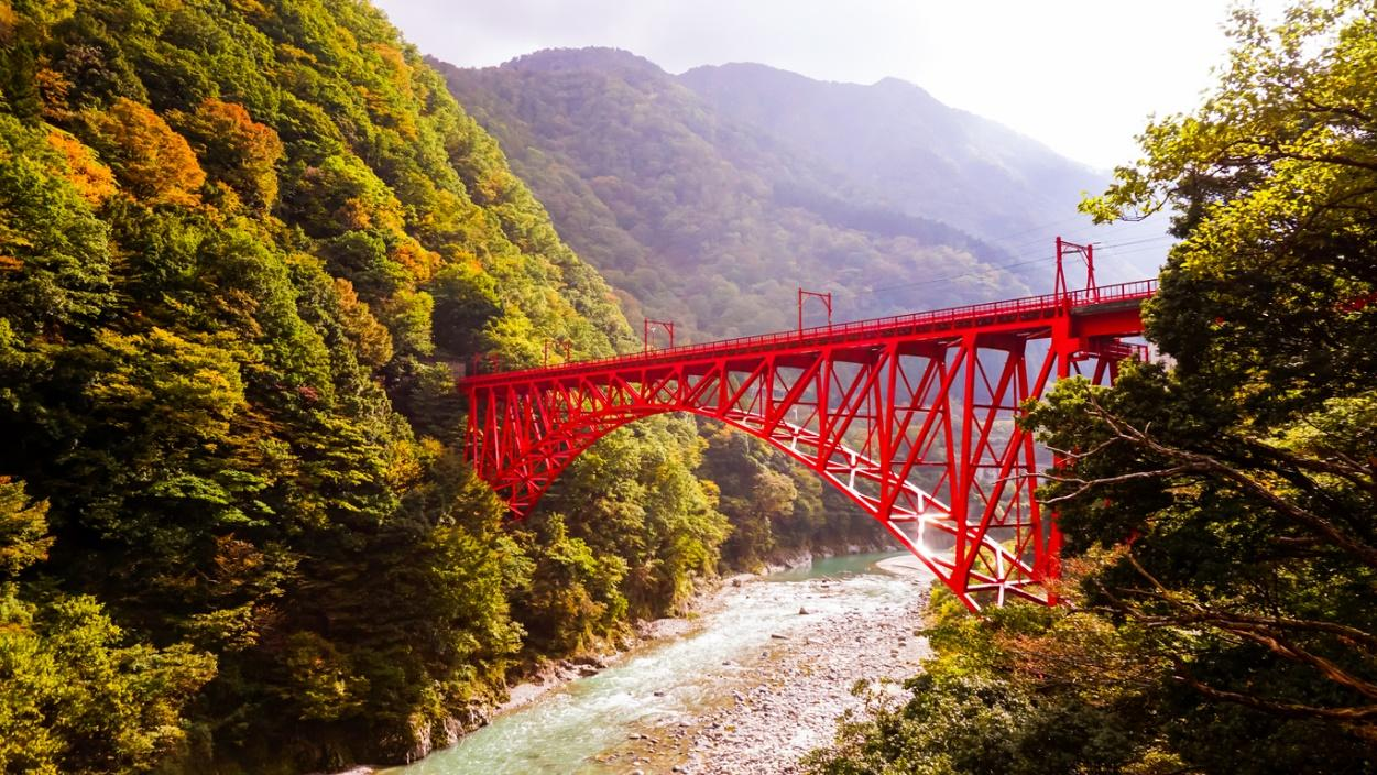 Tateyama Kurobe Alpine Route; Torokko Electric Railway's of KUROBE GORGE RAILWAY