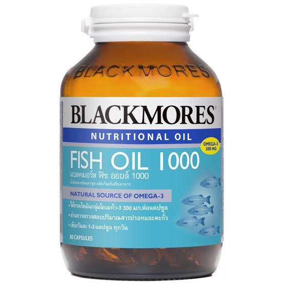 1. อาหารเสริมบำรุงสมอง Blackmores Nutritional Oil Fish Oil