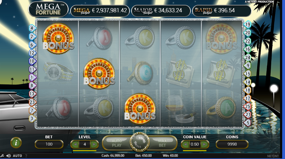 mega fortune luckyniki