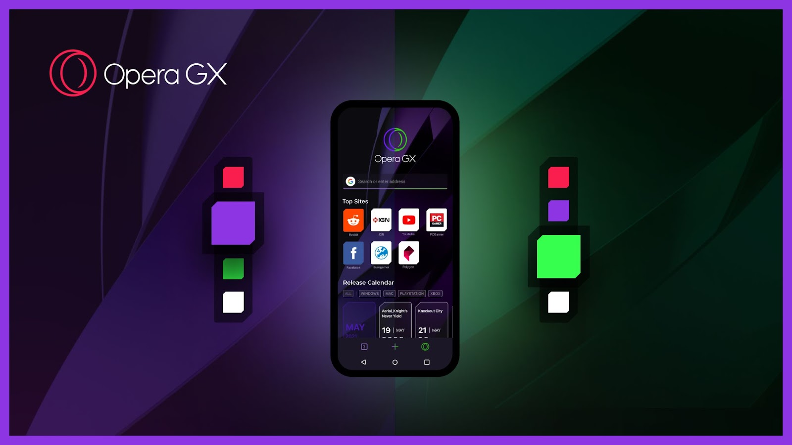 Color themes in Opera GX Mobile beta