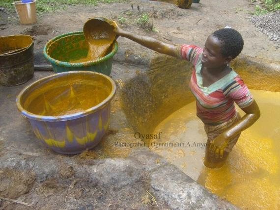Palm oil - traditional palm oil processing