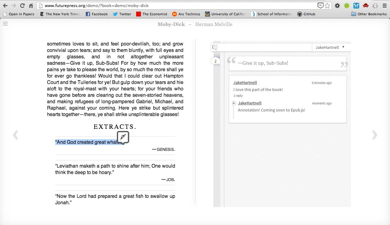 Epub js: Bringing Open Annotation to Books – Hypothesis