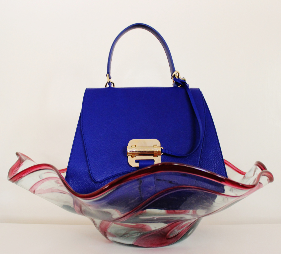 Maya satchel in Electric Blue colour. Image: Susan Wong & SHK Consulting.