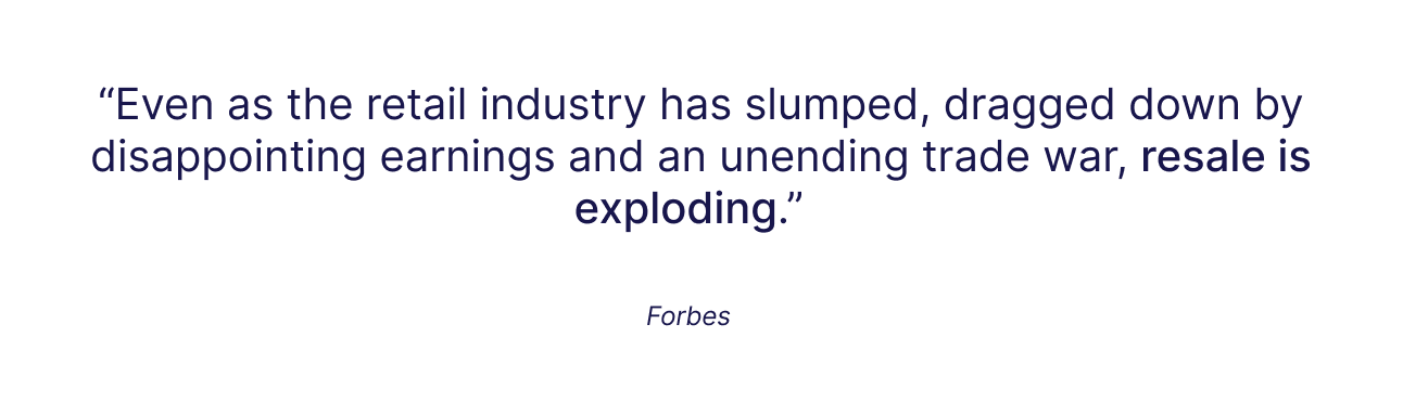 Quote by Forbes on Resale Industry