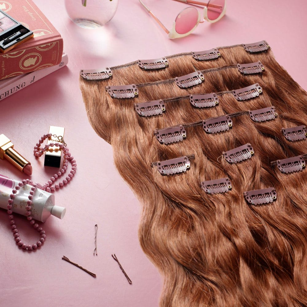 DIY clip-in hair extensions without sewing
