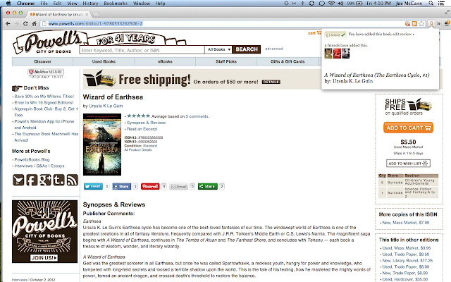 Add to Goodreads chrome extension