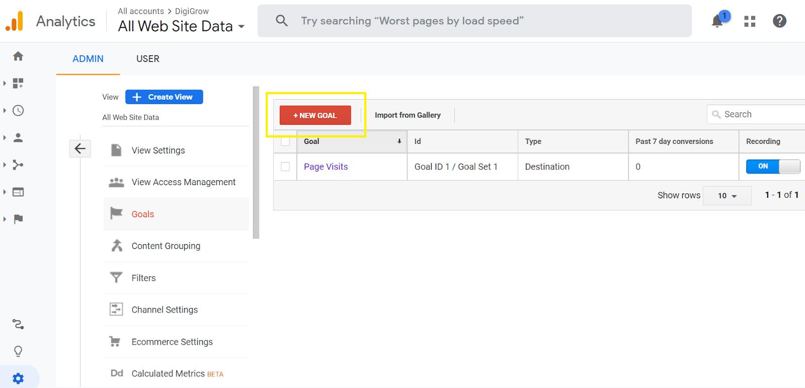 Setting SEO RoI Goals on Google Analytics