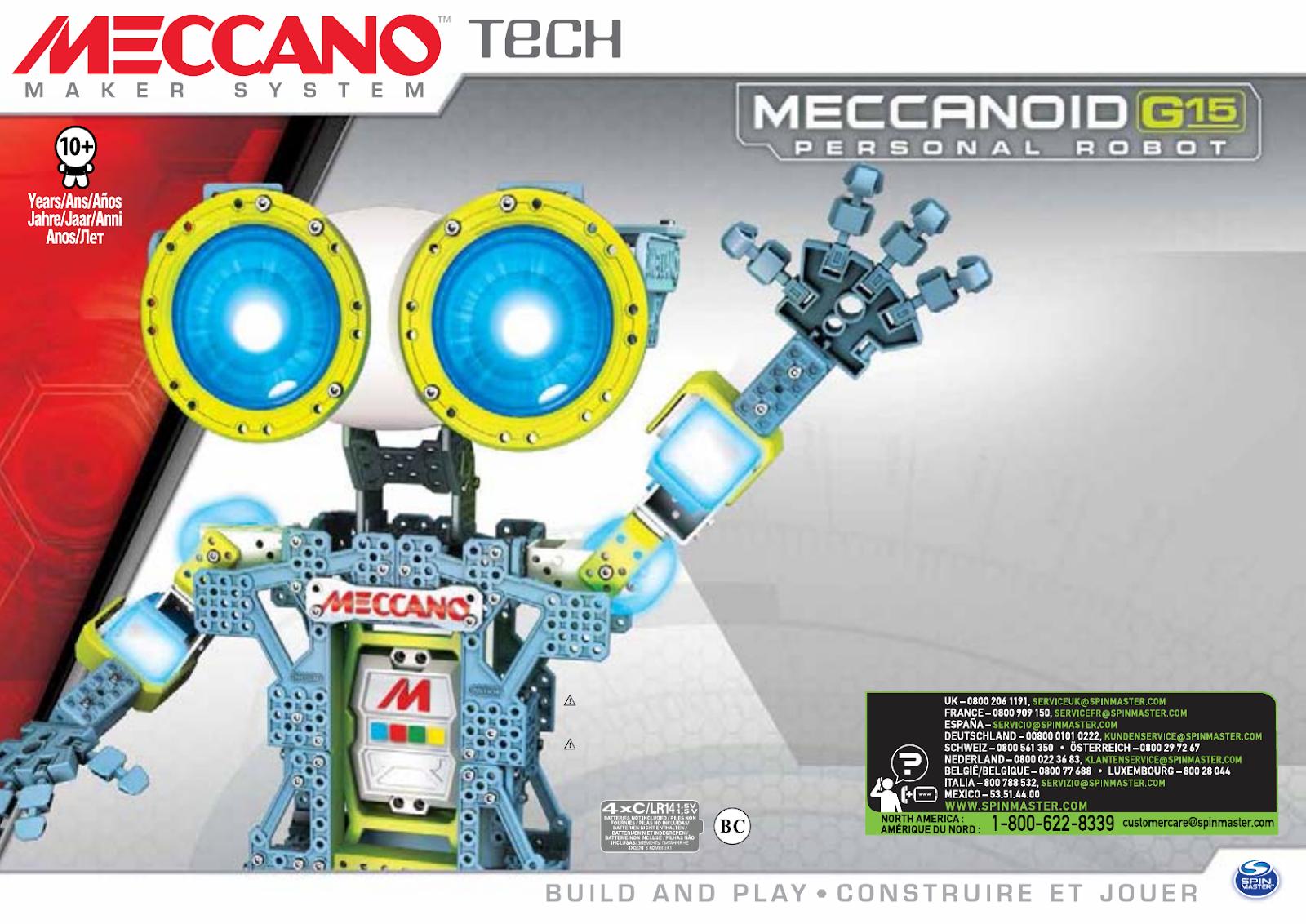 Robot kits: Meccano-Erector Meccanoid G15