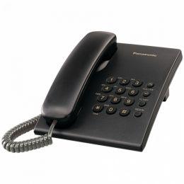Panasonic - jednolinkový telefon černý
