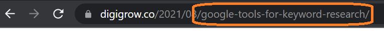 How to use keywords in URL slug