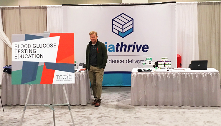Diathrive's Ben Lonsdale at our event booth