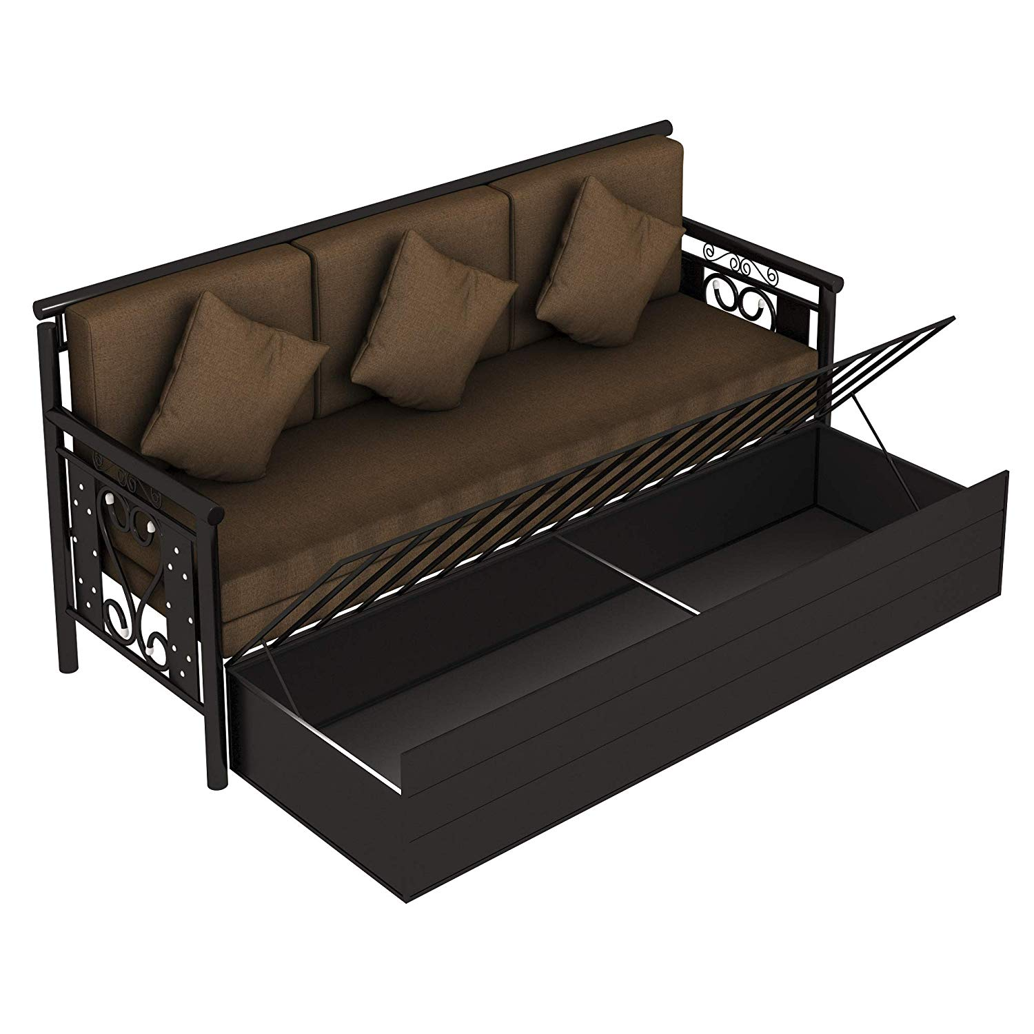 Royal Metal Single hydraulic storage Size Sofa Cum Bed