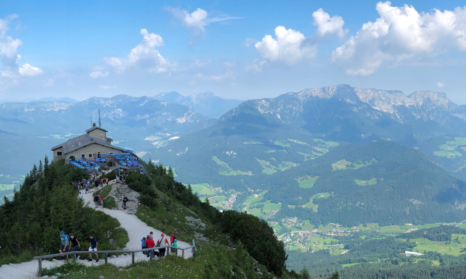 Bicycling to top of Kehlsteinhaus - Eagles Nest - view from top