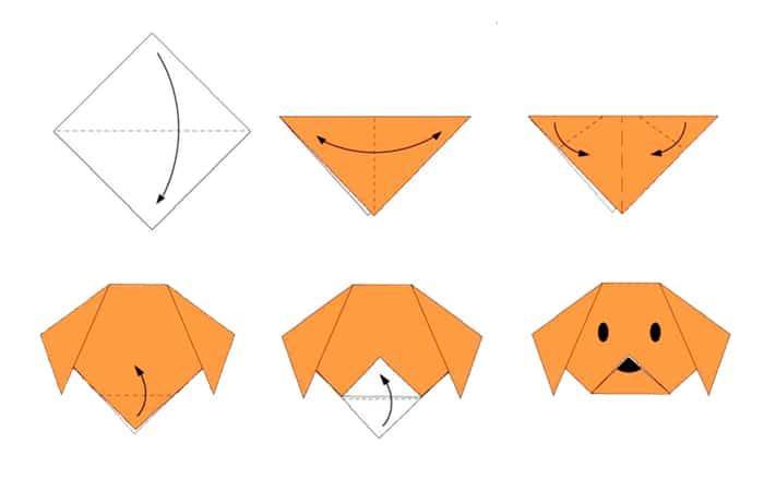 Origami de perro