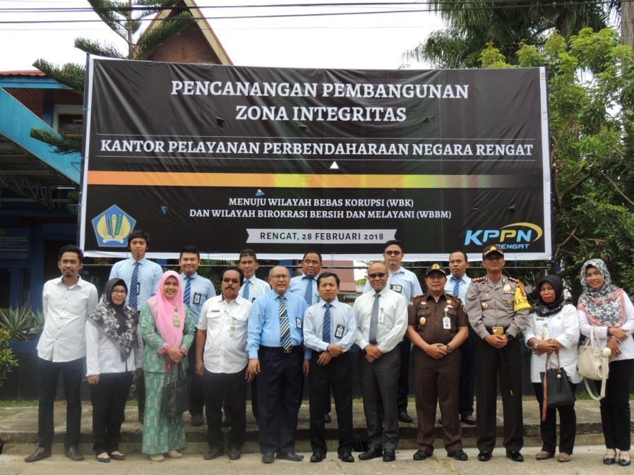 Ketua STIE Turut Hadiri Pencanangan Pembangunan  Zona Integritas KPPN Rengat