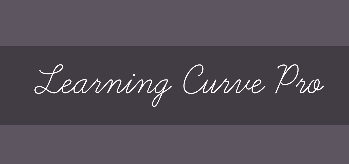 Simple calligraphy font called Learning Curve Pro