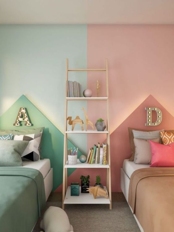 Bedroom Storage Solution By Using A Ladder Shelf