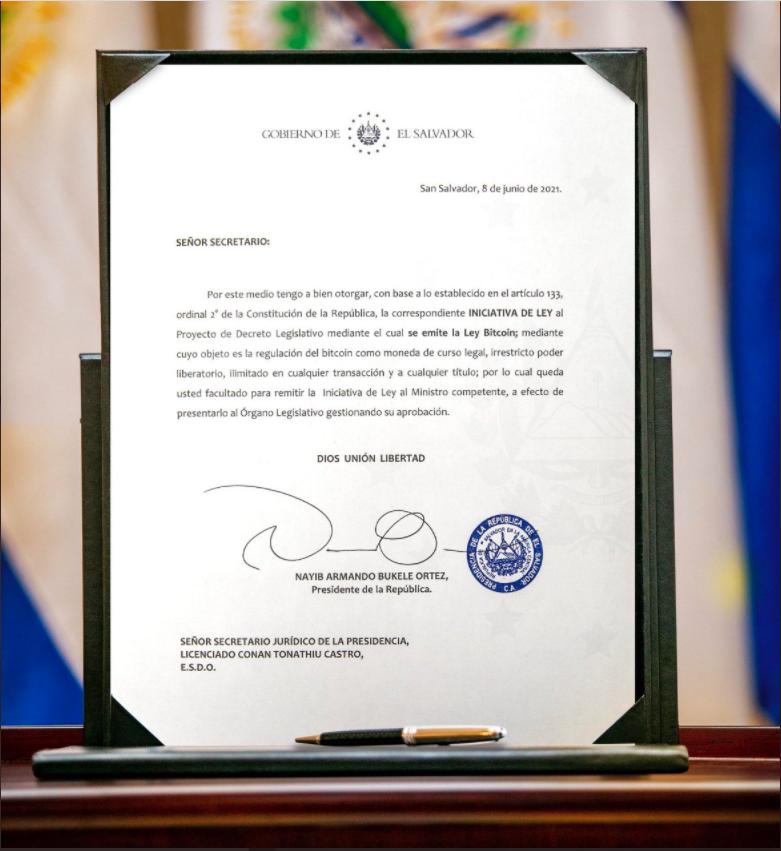 Lei do Bitcoin em El Salvador