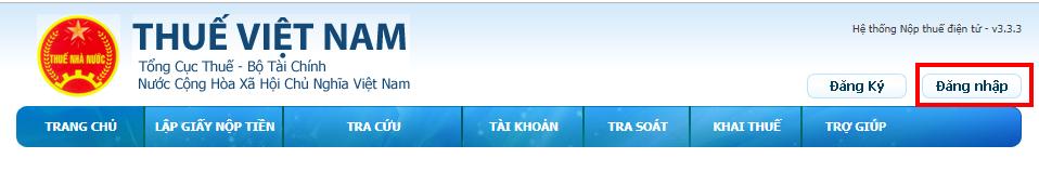 nộp thuế điện tử trên trình duyệt Internet Explorer