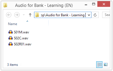 .wav audio files named accordingly to the script.