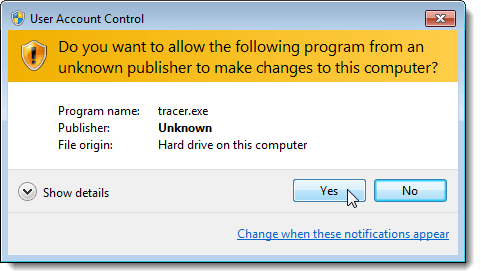 "A screenshot of Windows OS asking if the user wants to grant ""user account control"""