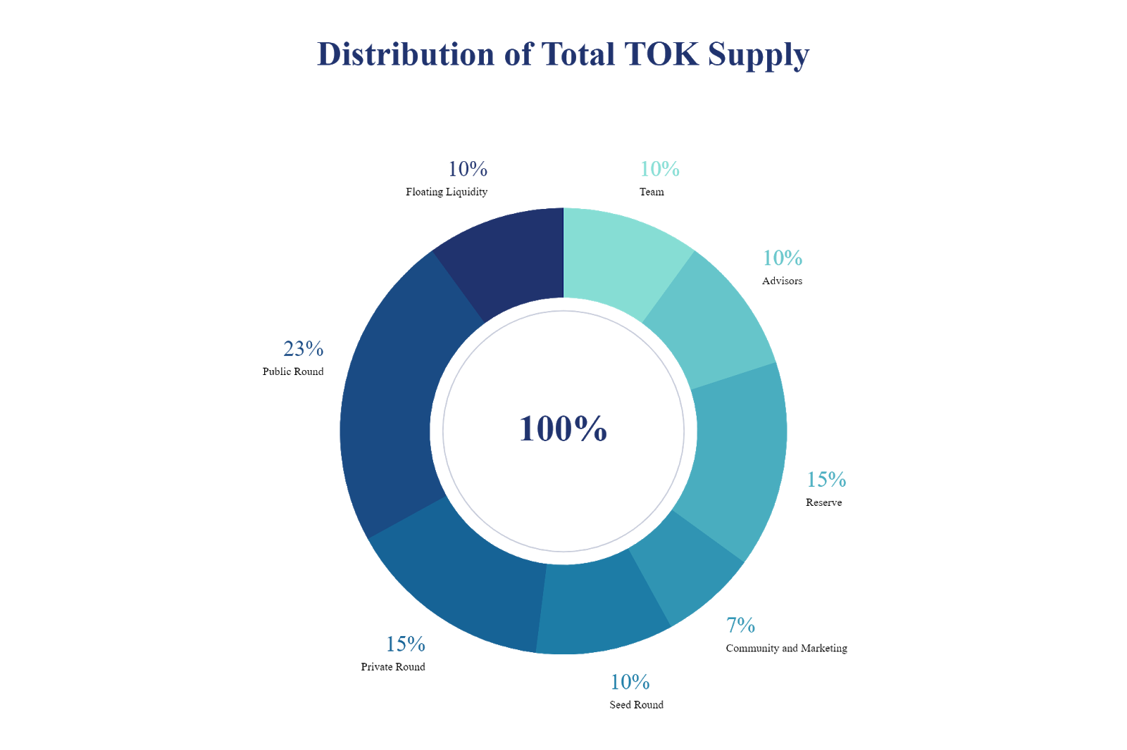 Token Distribution and operations budget.