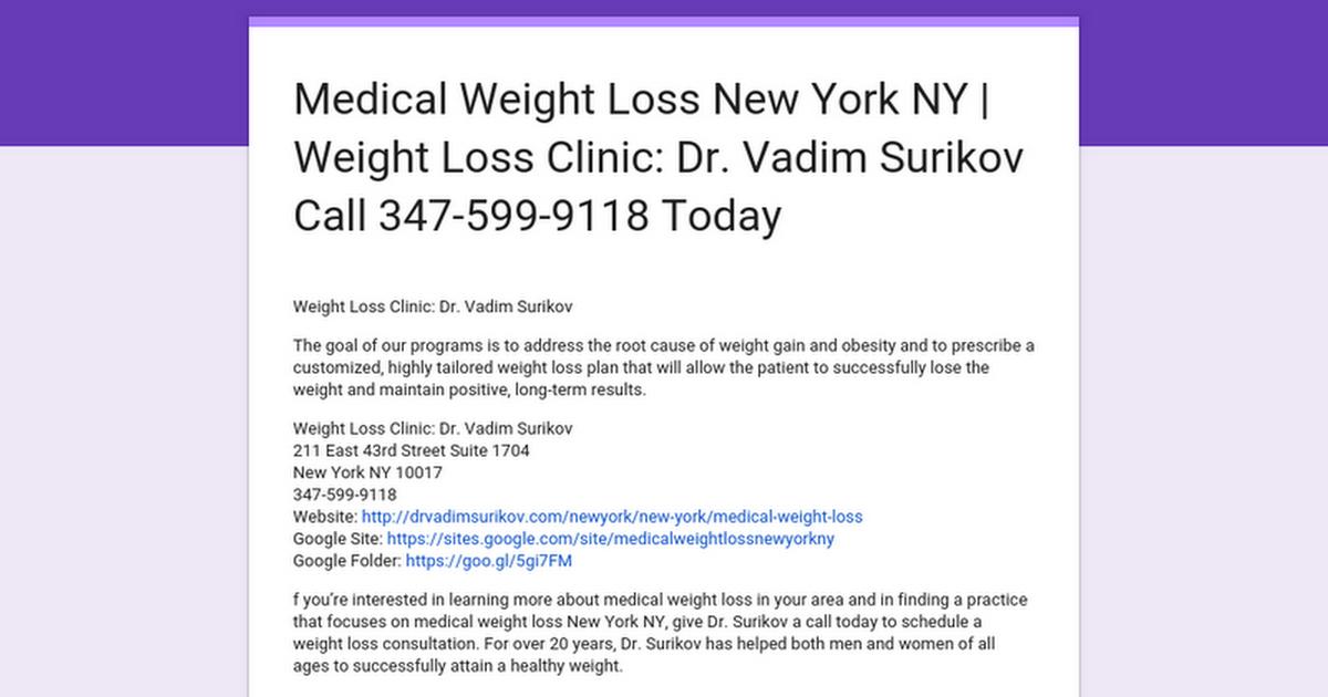 Medical Weight Loss New York Ny Weight Loss Clinic Dr Vadim