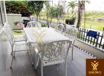 Hoàng Thái Tú là địa chỉ sản xuất, phân phối bộ bàn ghế nhôm đúc giá rẻ nhất