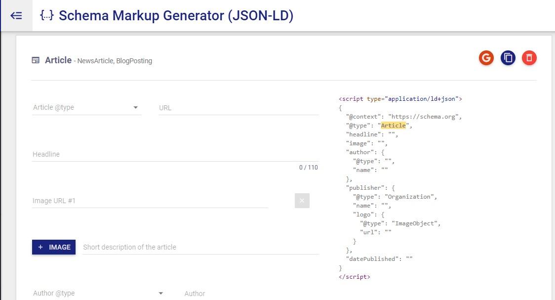 Structure schema generator