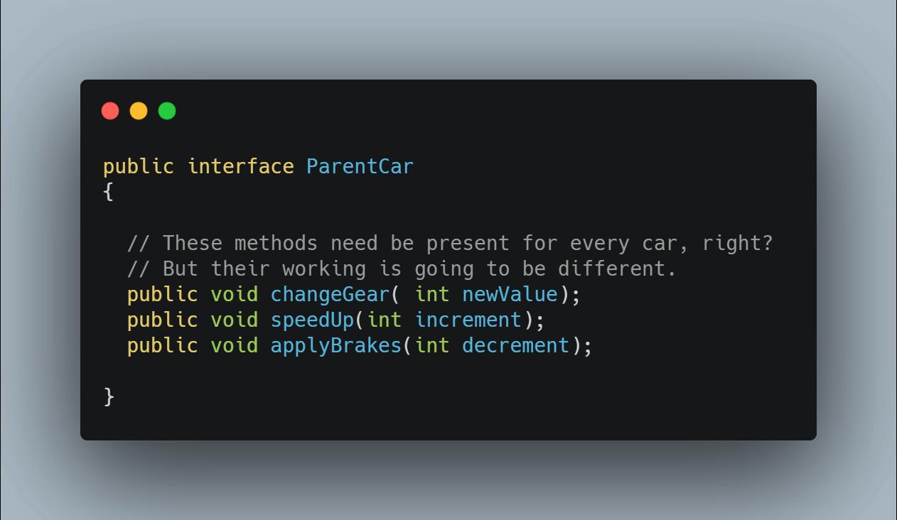 interface program example