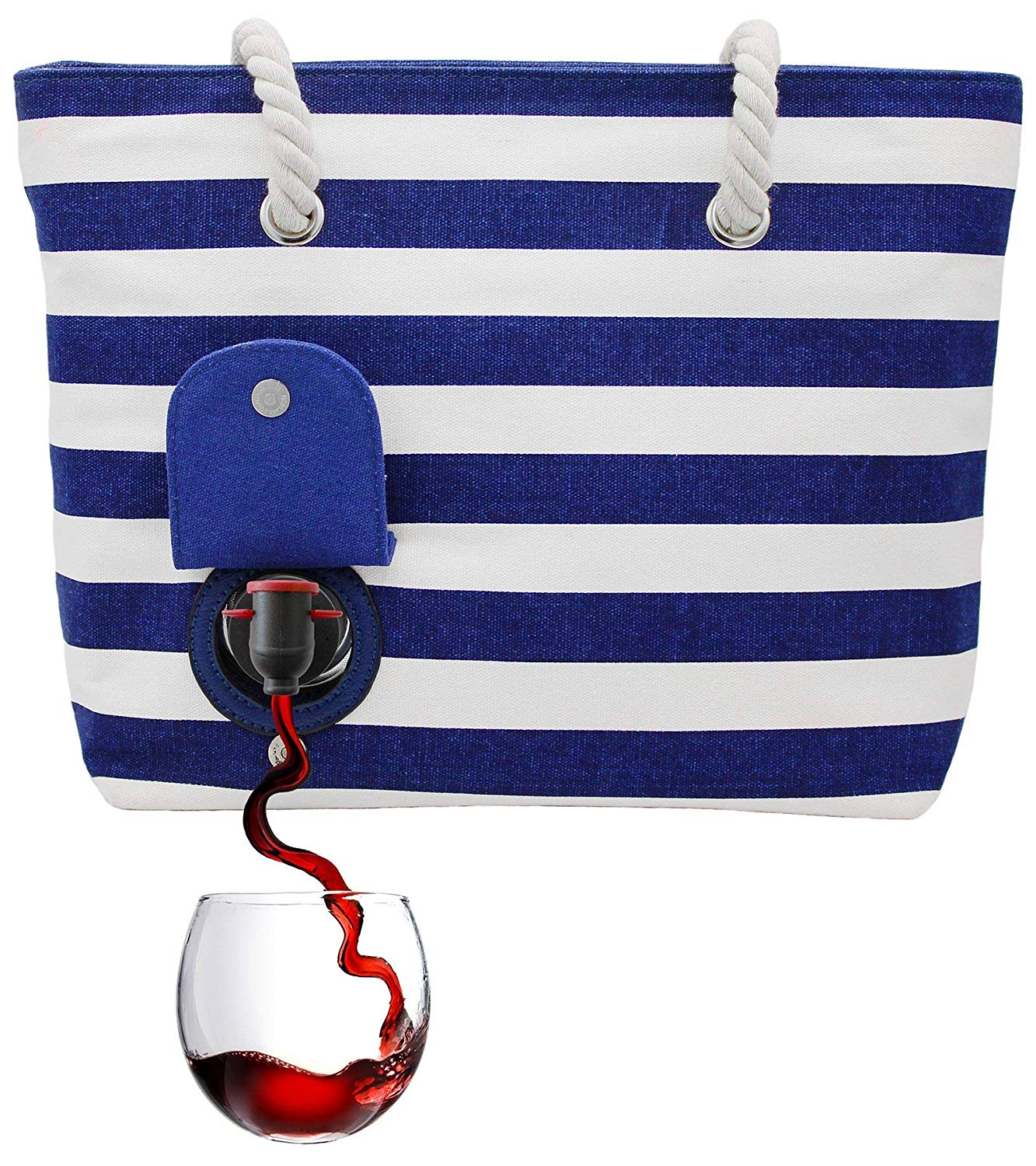 Beach Bag Flask With Storage