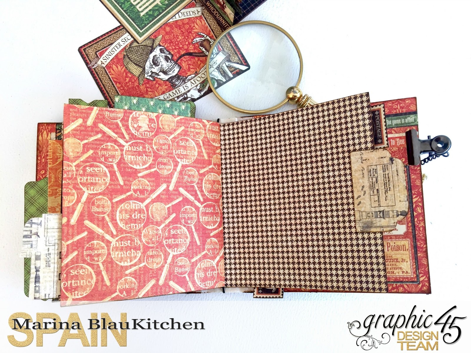 Stand and Mini Album Master Detective by Marina Blaukitchen Product by Graphic 45 photo 23.jpg
